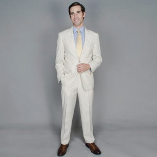 Men's Camel Seersucker 2-button Suit