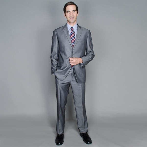Grey Sharkskin 2-Button Suit