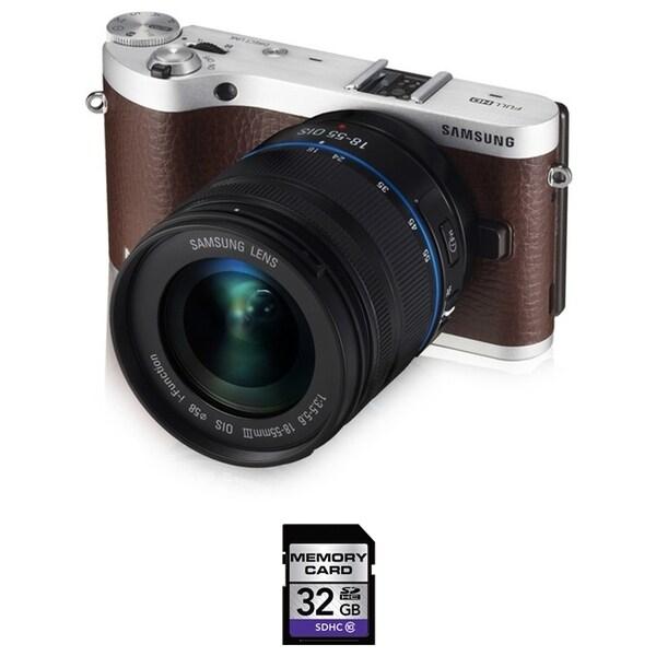 Samsung NX300 Mirrorless Digital Camera 18-55mm OIS Lens 32GB Bundle