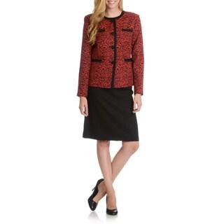 Danillo Women's Pattern Jacket Skirt Suit