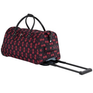 Calpak Soho Cherry Lane 21-inch Carry On Rolling Upright Duffel Bag
