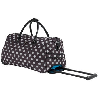 Calpak Soho Brown Polka 21-inch Carry On Rolling Upright Duffel Bag