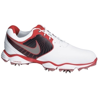 Nike Men's Lunar Control II White/ Black/ Red Golf Shoes