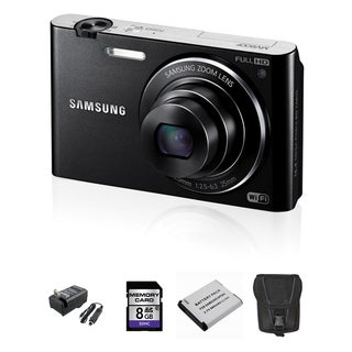 Samsung MV900F MultiView 16.3MP Black Digital Camera 8GB Bundle