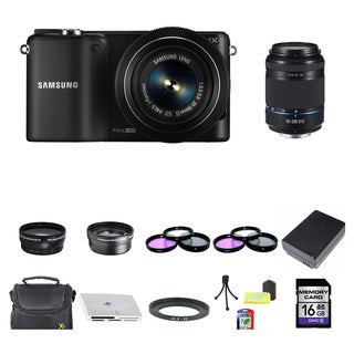 Samsung NX2000 Mirrorless Camera 20-50mm and 50-200mm Lens