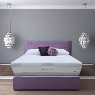 Laura Ashley Blossom Firm Super Size Queen-size Mattress and Foundation Set