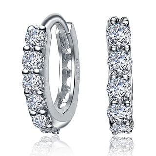Collette Z Sterling Silver Cubic Zirconia Earrings with Bonus Earrings