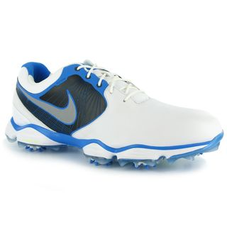 Nike Men's Lunar Control II White/ Black/ Blue Golf Shoes