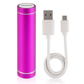 BasAcc Hot Pink Lip Stick Design USB Power Bank with Cable