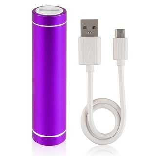 BasAcc Purple Lip Stick Design USB Power Bank with Cable
