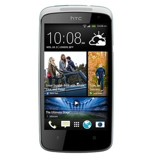HTC Desire 500 Unlocked GSM Quad-Core Android Cell Phone - White/Blue