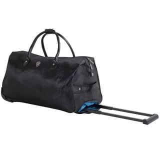Calpak Soho Black Grain 21-inch Carry-On Rolling Upright Duffel Bag