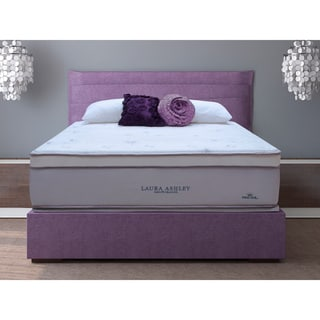Laura Ashley Blossom Euro Pillowtop Twin-size Mattress and Foundation Set