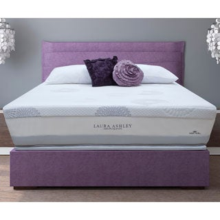 Laura Ashley Blossom Plush Super Size Queen-size Mattress and Foundation Set