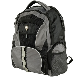 Calpak High Five 18-inch Black/Gray Backpack With Laptop Compartment