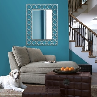 Irish Brushed Nickel Rectangle Mirror