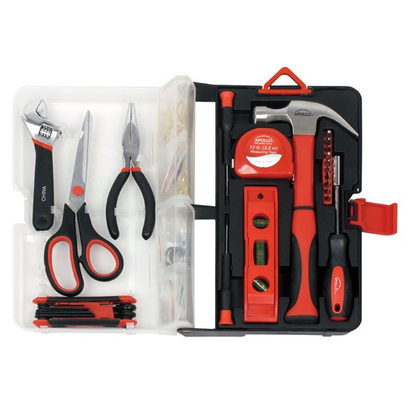 Apollo 126-piece Red Kitchen Drawer Tool Kit