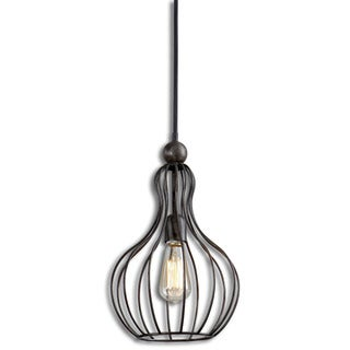 Bourret 1-light Rust Black Pendant