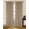 Juniper Branch and Leaf Faux Silk Curtain Panel Pair