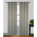 Hourglass Grey/Black 95 inch Curtain Panel Pair