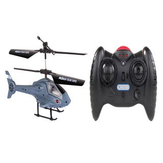 Apollo Navy Gray Micro 2CH IR RC Helicopter
