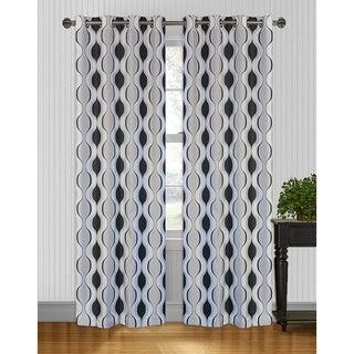 Zen Grey/ Black 95 inch Curtain Panel Pair