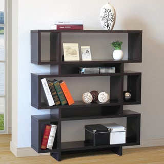 Santiago Brown 3-tier Shelving Bookcase