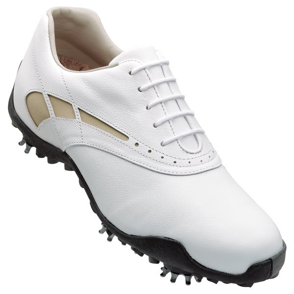 Footjoy Lopro Collection Ladies White and Taupe Golf Shoes