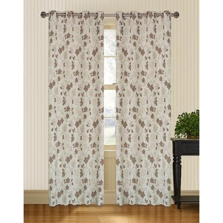Marigold Floral Jacquard 95 inch Curtain Panel Pair