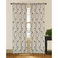 Marigold Floral Jacquard 95 inch Curtain Panel Pair