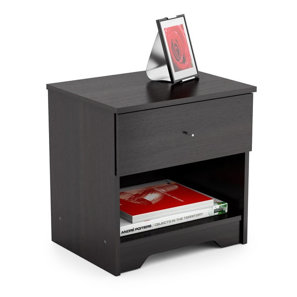 N-105-LPB Ravenwood Black Plateau Nightstand