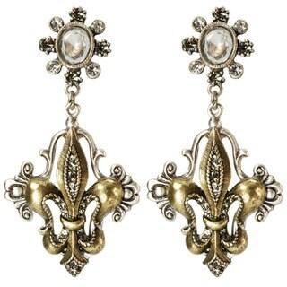 Sweet Romance French Ritz Fleur-de-lis Earrings