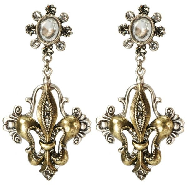 Sweet Romance French Ritz Fleur-de-lis Earrings