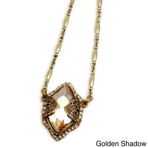 Sweet Romance Jumbo Marquis Crystal Necklace