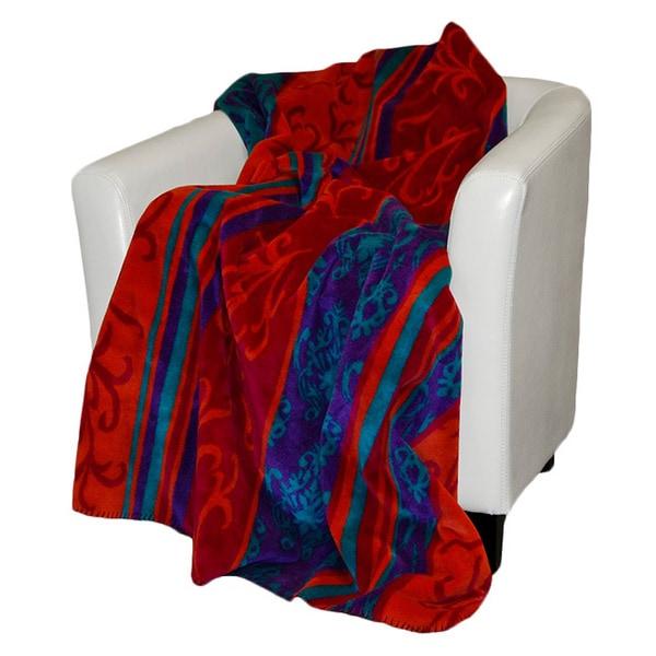 Denali Magenta Tapestry Throw Blanket