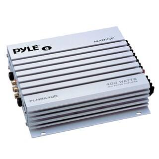 Pyle PLMRA400 4 Channel 400 Watt Waterproof Marine Amplifier (Refurbished)