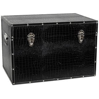 Faux Leather Black Trunk