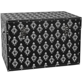 Black Damask Storage Trunk