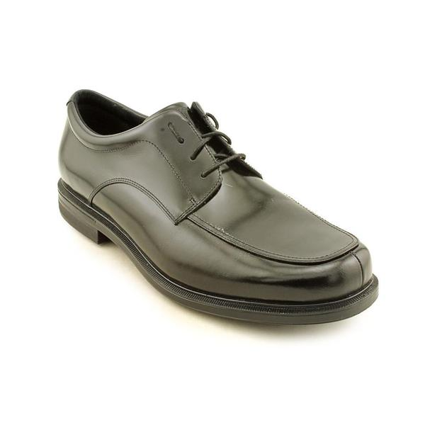 Men's Rockport Editorial Offices Apron Toe Black Full Grain Leather