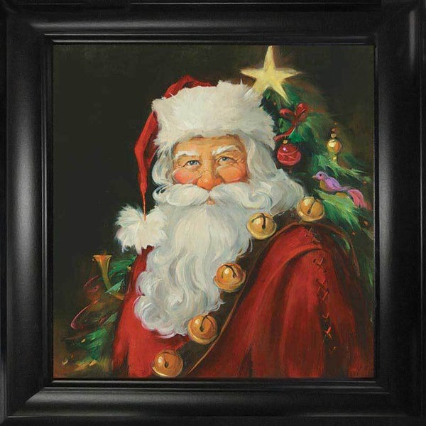 Sue Cornish 'Santa Portrait' Framed Wall Art
