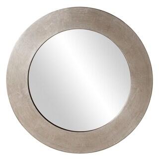 Hedge Silver Round Mirror