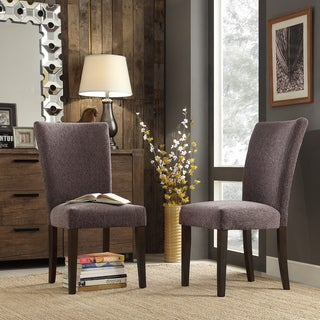 INSPIRE Q Catherine Dark Grey Chenille Parsons Dining Chair (Set of 2)