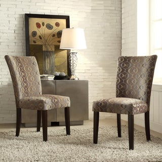 Inspire Q Parson Fun Oval Print Fabric Side Chairs (Set of 2)
