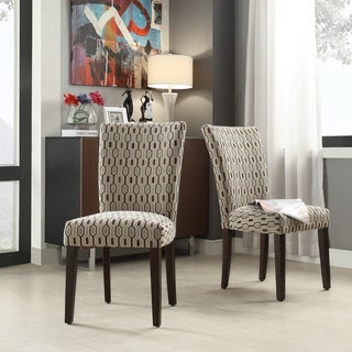 INSPIRE Q Catherine Mocha Honeycomb Parsons Dining Chair (Set of 2)