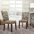 Parson Earthtone Geometric Print Fabric Side Chairs (Set of 2)