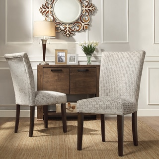 INSPIRE Q Catherine Grey Link Parsons Dining Chair (Set of 2)