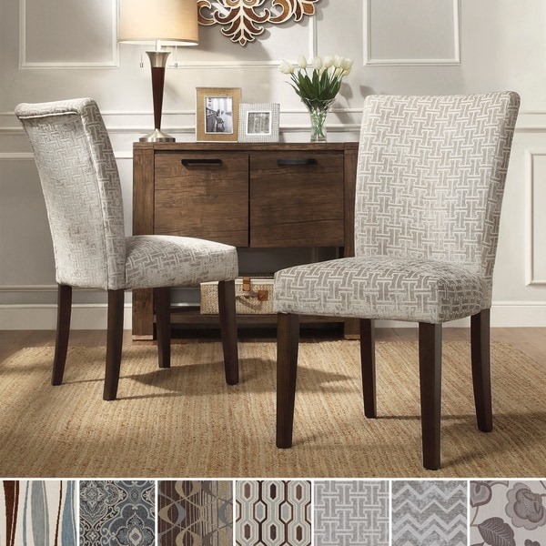 INSPIRE Q Catherine Print Parsons Dining Side Chair (Set of 2) (As Is Item)