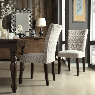 INSPIRE Q Catherine Grey Chevron Parsons Dining Chair (Set of 2)