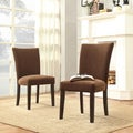 INSPIRE Q Parson Chocolate Chenille Side Chairs (Set of 2)