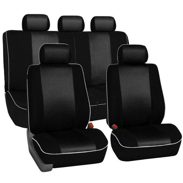 FH Group Black 3D Air Mesh With Edge Piping Car Seat